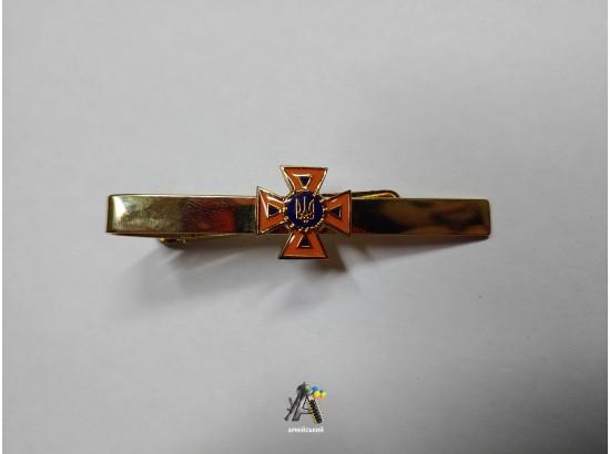 Зажим на галстук МЧС золотой металический
