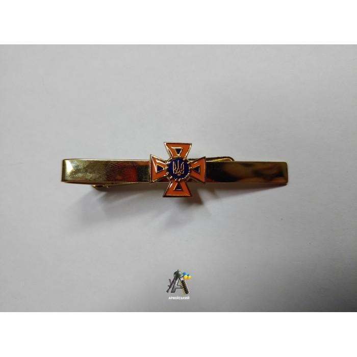 Затиск на краватку МНС золотий металевий