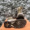 Берцы EXTREME нубук+кордура нат.мех песок