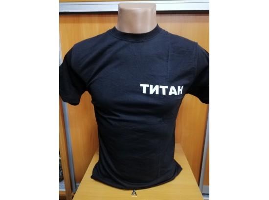 футболка титан черная