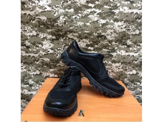 Тактические  кожаные кроссовки с вставкой Extreme / Черные
