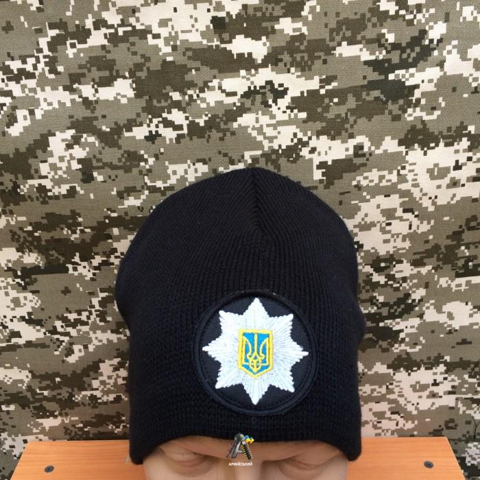 Шапка полиции вязаная / Черная