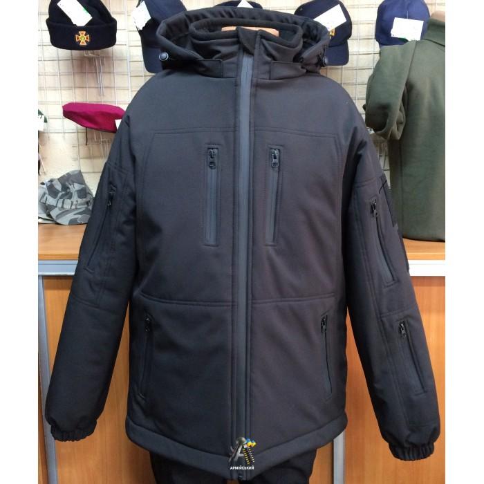 Куртка Soft-shell Черная / Зима