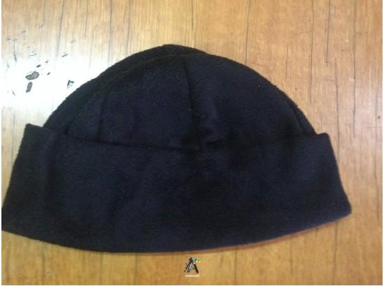 Шапка флис с отворотом черная