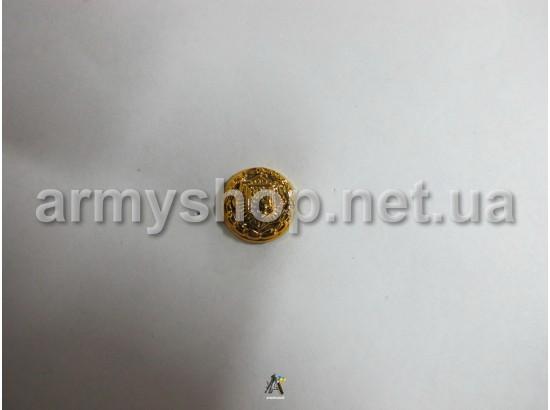 Пуговица МВД генеральская, маленькая, золотая