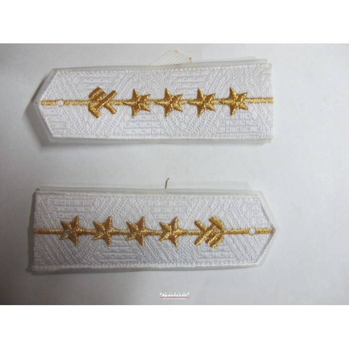 Погоны ЖД белый младший четыре звезды (паркет)
