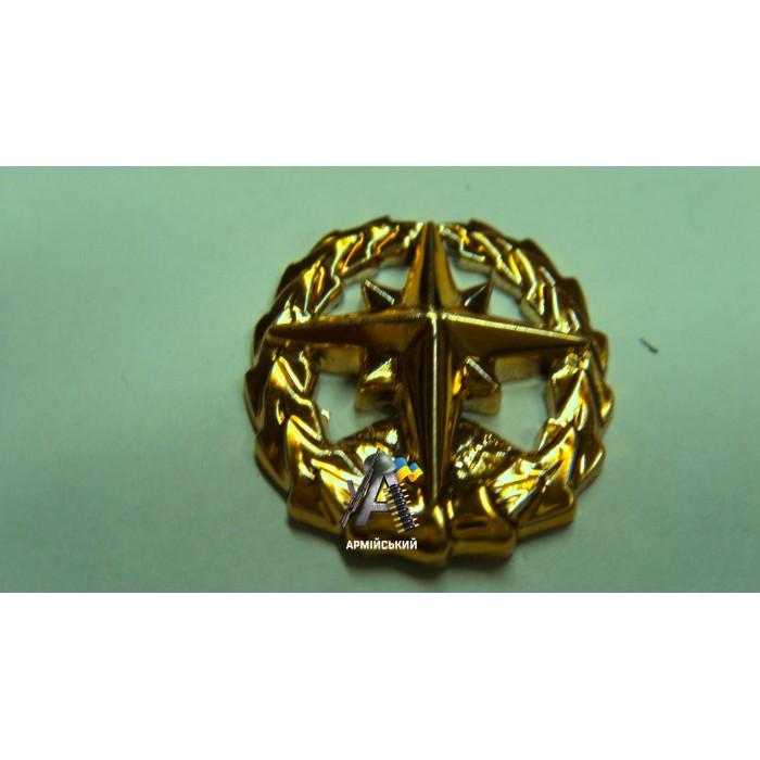 Эмблема войск топографической службы золотая