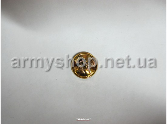 Пуговица ЖД маленькая, золотая