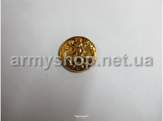 Пуговица Казачья большая, золотая