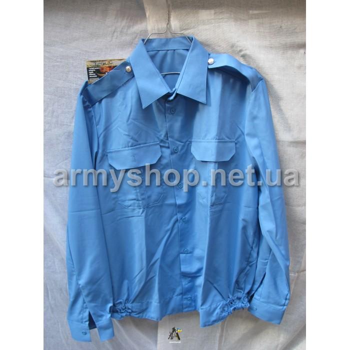Рубашка МВД синяя, длинный рукав