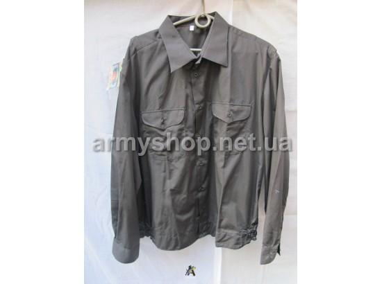 Рубашка черная, длинный рукав