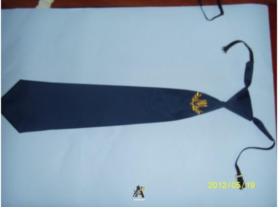 Галстук Казачий синий с золотой вышивкой трезубца