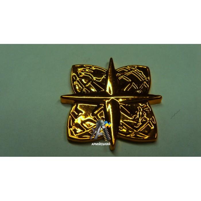 Эмблема войск топографической службы золотая, нового образца