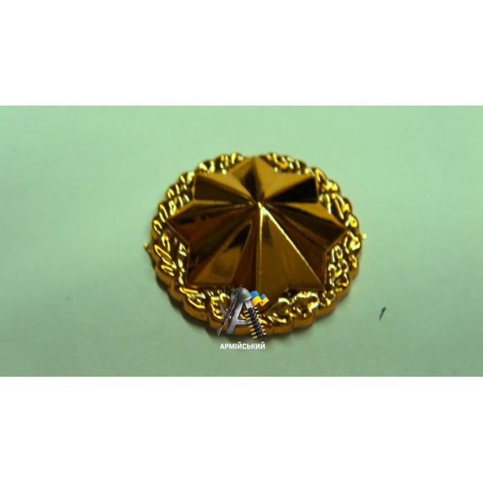 Эмблема военная служба правопорядка золотая