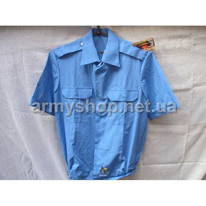 Рубашка МВД синяя, короткий рукав