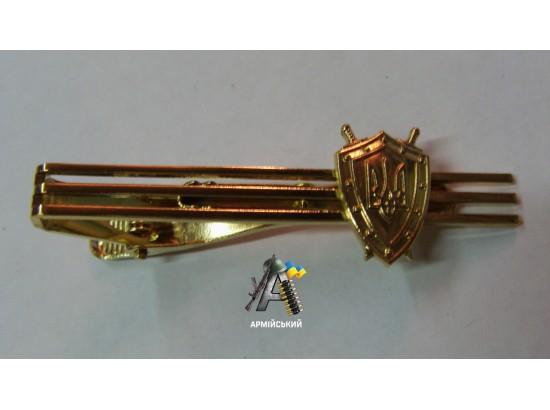 Зажим на галстук прокуратура золотой металический
