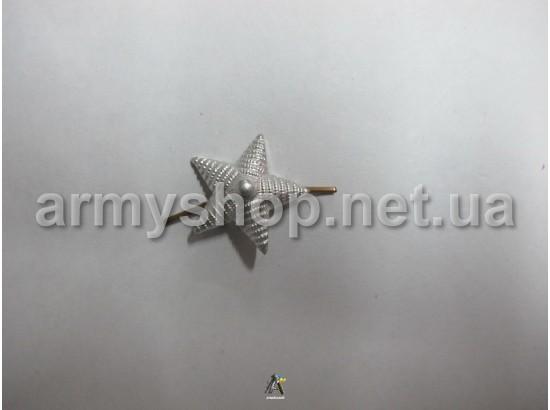 Зірка велика, срібна, Українська, металева