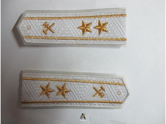 Погоны ЖД белый старший две звезды (паркет,блатной)