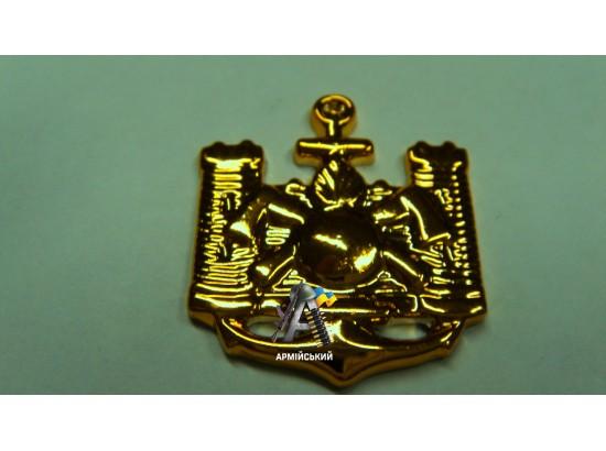 Эмблема инженерных войск золотая, нового образца