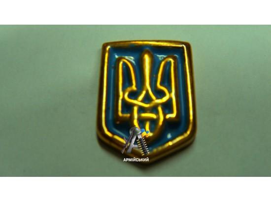 Эмблема трезубец на щите золотая