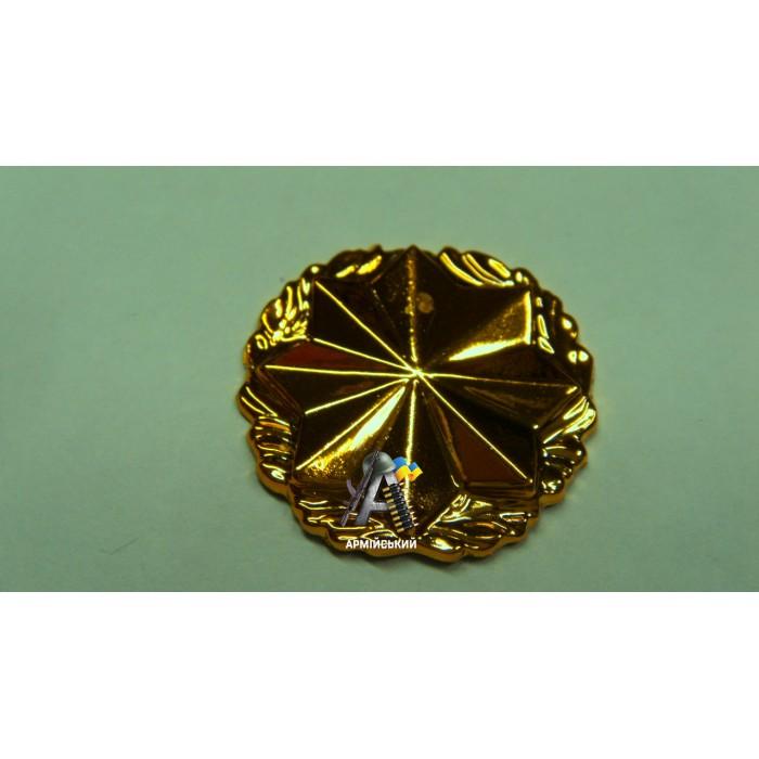 Эмблема военная служба правопорядка золотая, нового образца