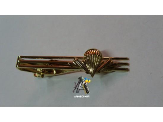 Зажим на галстук ВДВ золотой металический