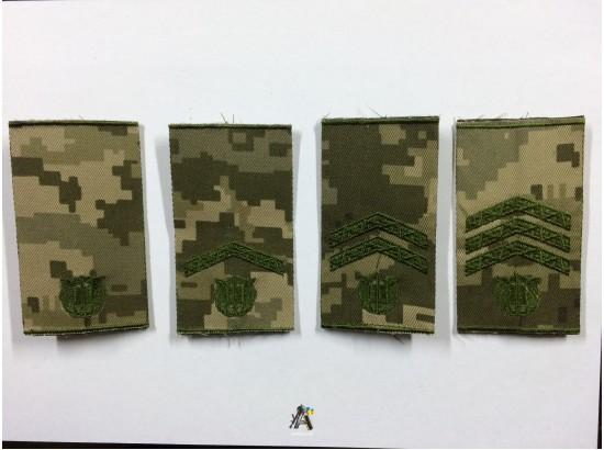 Погоны курсантов военных учебных заведений Вооруженных Сил Украины муфта пиксель