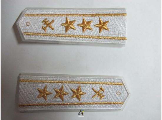 Погоны ЖД белый старший три звезды(паркет,блатной)