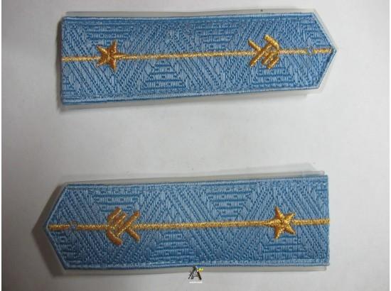Погоны ЖД голубой младший(паркет,блатной), одна звезда