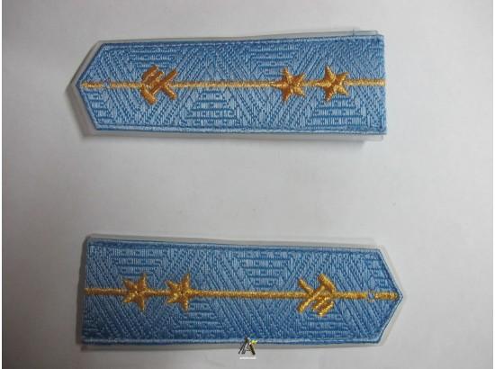 Погоны ЖД голубой младший две звезды (паркет,блатной)