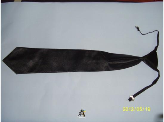 галстук черный МВД шелк