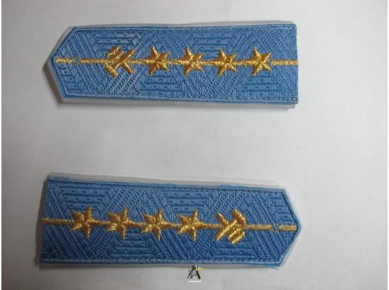Погоны ЖД голубой младший четыре звезды (паркет,блатной)