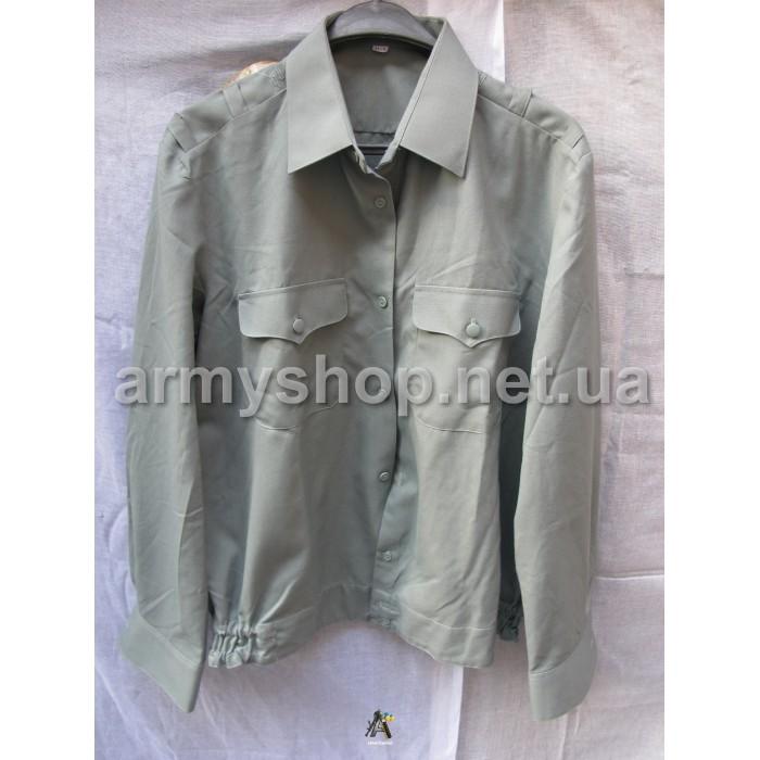 Рубашка МО зеленая, длинный рукав