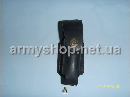 Чехол для газбаллона кожаный, черный, маленький