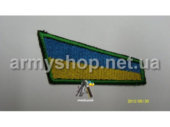 Флажок Украины, зеленый кант