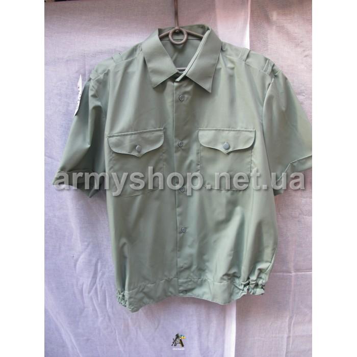 Рубашка МО зеленая, короткий рукав