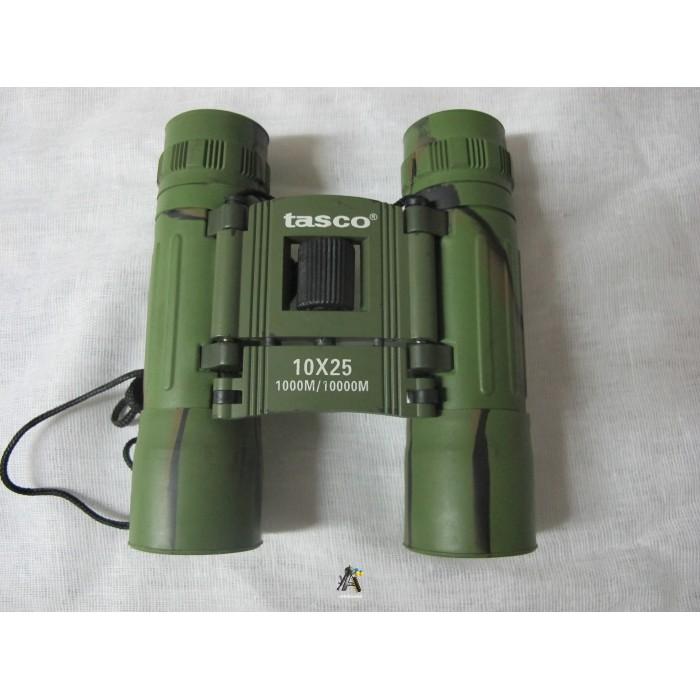 Бинокль Tasco 10х25 зеленый