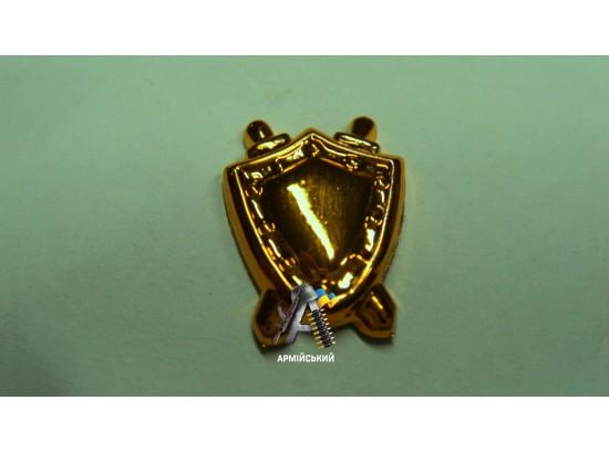 Эмблема юстиции маленькая, золотая