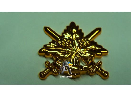 Эмблема общевойсковая золотая, нового образца