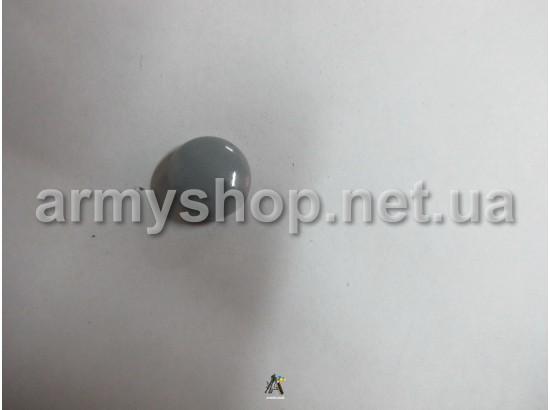 Пуговица грибочек серая