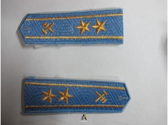 Погоны ЖД голубой старший две звезды(паркет,блатной)