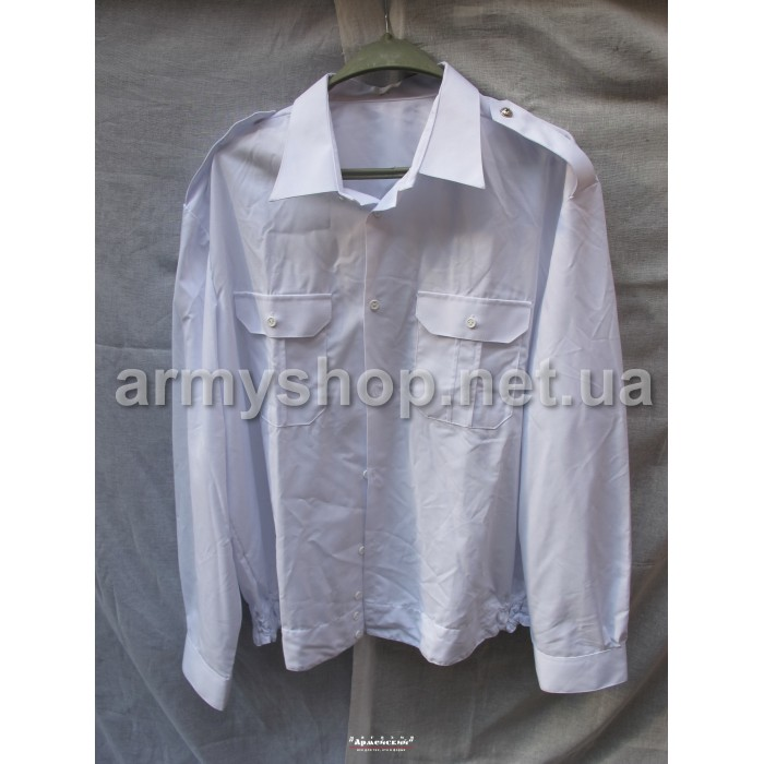 Рубашка МВД белая, длинный рукав