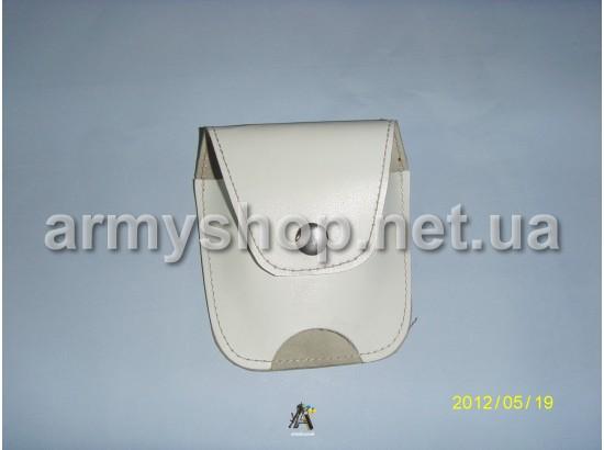 Чехол для наручников кожаный белый