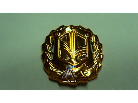 Эмблема войск химической защиты, золотая