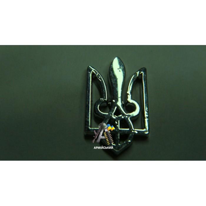 Емблема тризуб срібна