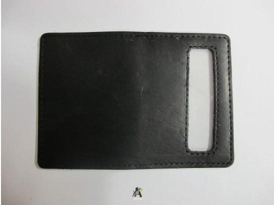Обложка черная кожа