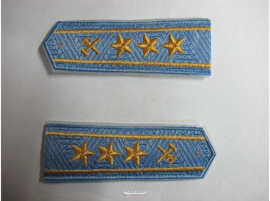 Погони ЖД блакитний старший три зірки (паркет, блатний)