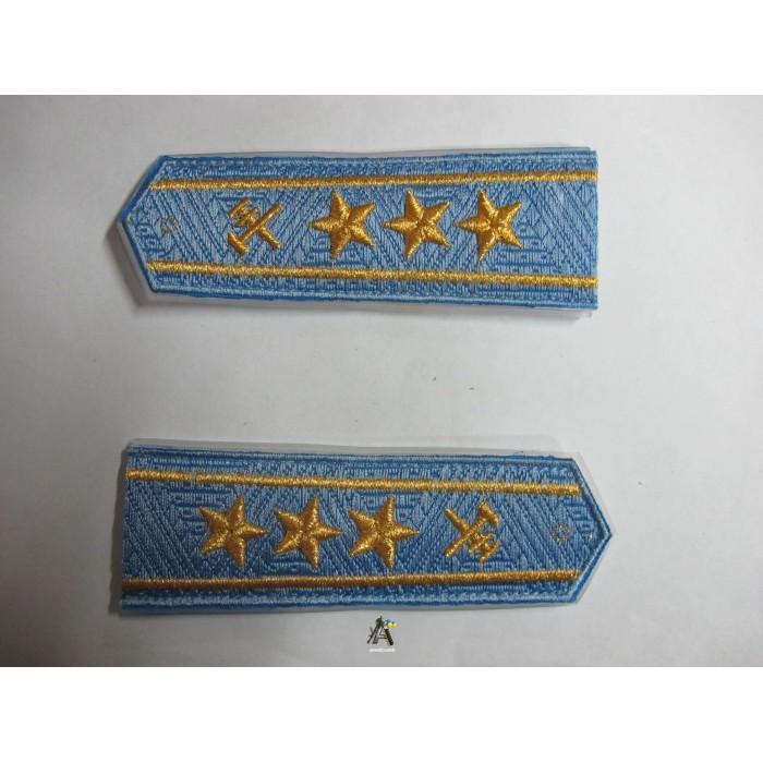 Погоны ЖД голубой старший три звезды(паркет)
