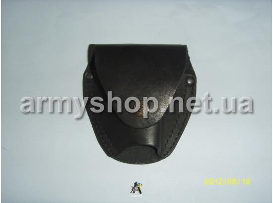 Чохол для наручників шкіряний чорний