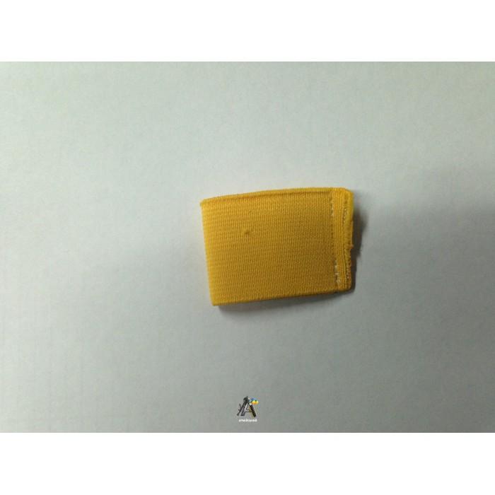 Лычка резинка широкая желтая